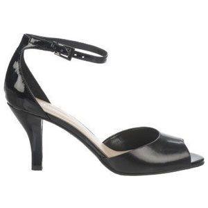 Naturalizer Axis Black Leather Peep Toe Heels 9.5